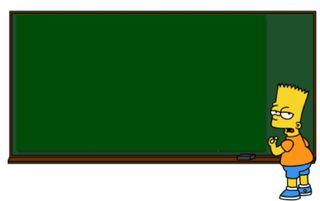 Barts chalkboard
